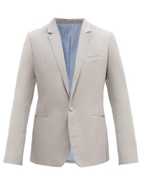 Haider Ackermann - Single-breasted Silk-blend Jacket And Cummerbund - Mens - Grey