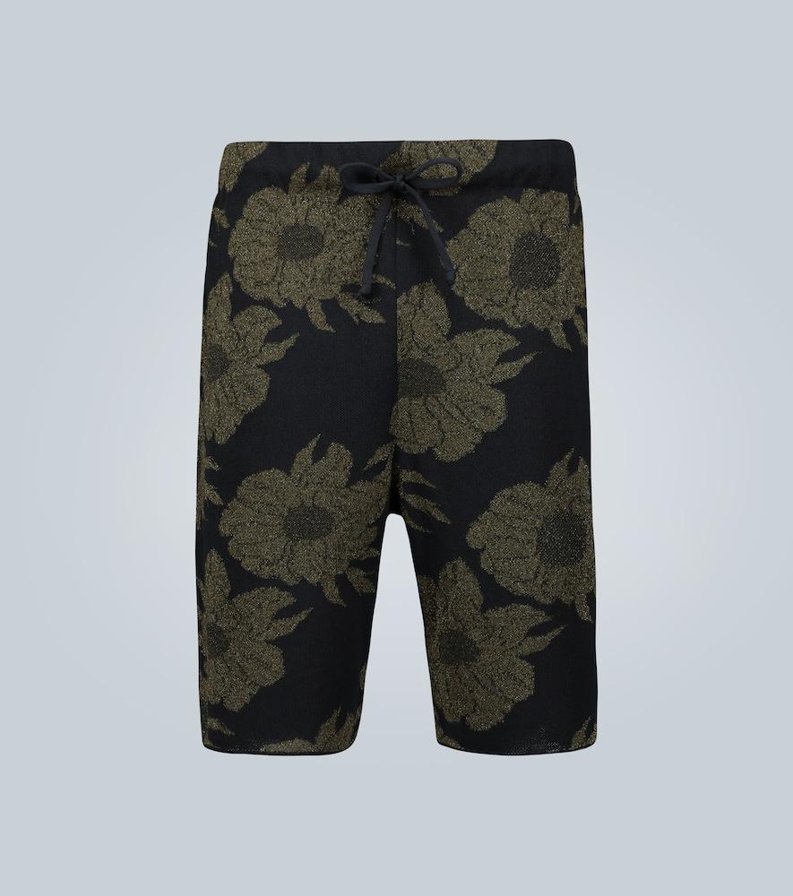 Floral jacquard shorts