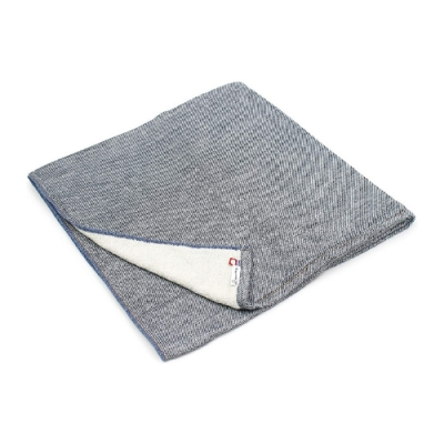 日本愛子 Hartwell 今治素色丹寧風紗布浴巾-深藍