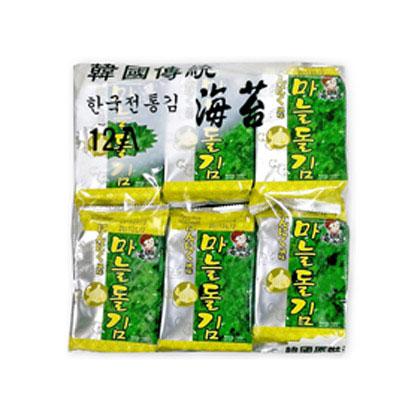韓味不二 海樂多美味海苔-蒜味(5gx12入)