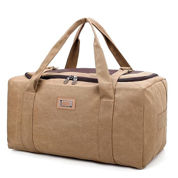 超大容量行李袋手提旅行包男加厚帆布搬家包旅游袋女待產包行李包