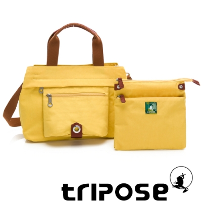 tripose 微旅系列輕旅機能後背斜背包 活力黃