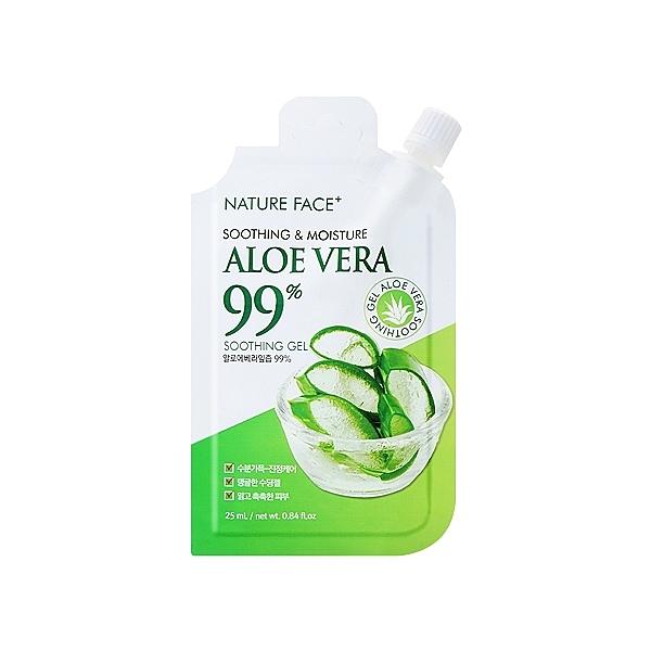 韓國 Nature Face 99%蘆薈保濕舒緩凝膠25ml【小三美日】攜帶包/隨身包