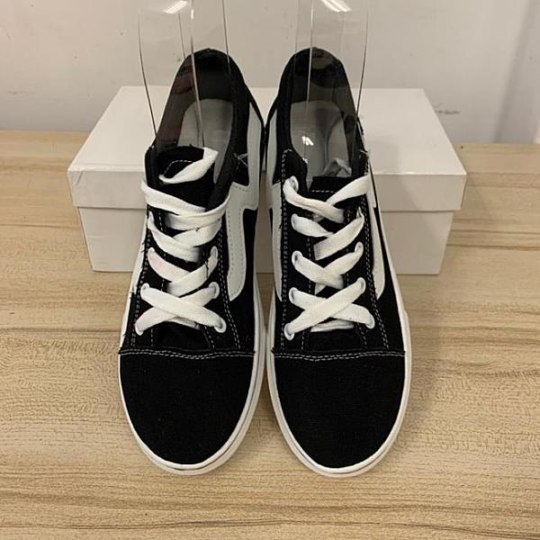 厚底懶人鞋潮帆布鞋休閒鞋(36號/777-4556)
