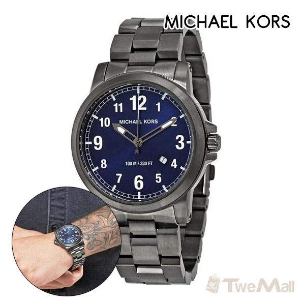 MICHAEL KORS MK 鋼錶帶 男錶/手錶/腕錶(鐵灰)