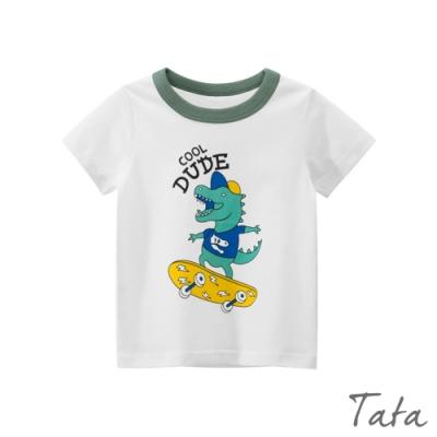 童裝 恐龍玩滑板印花上衣 TATA KIDS