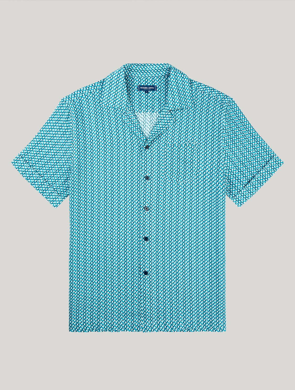 Thomas Shirt Beam Print Ocean XL