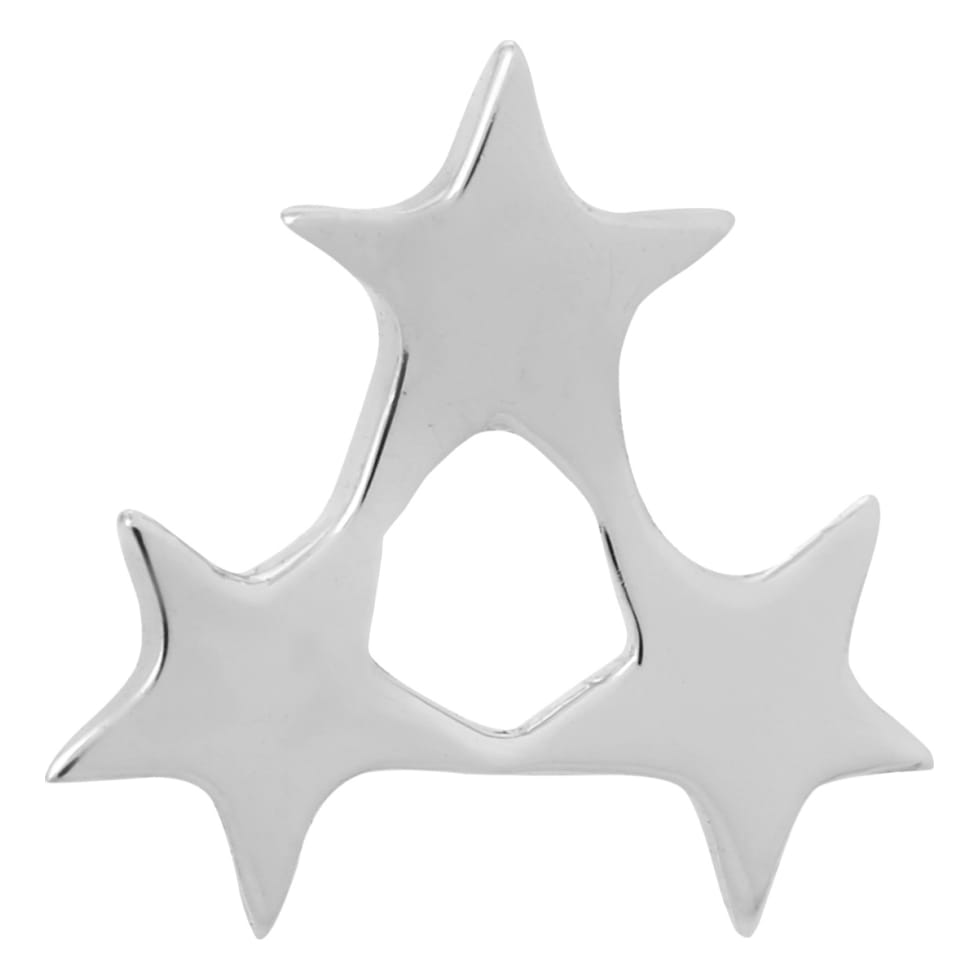 Supernova Star Single Stud Earring, 925 Sterling Silver