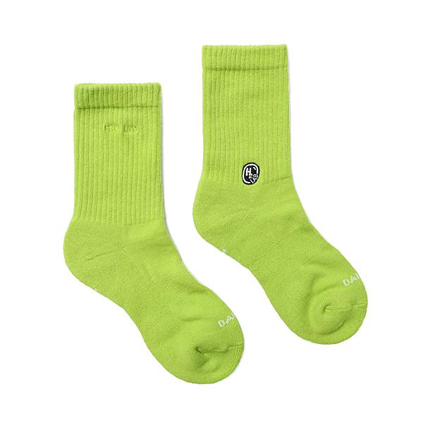 HOWDE LAB CREW SOCKS 2020新版 萊姆色 純色 中高筒襪 男女 20SS01GN