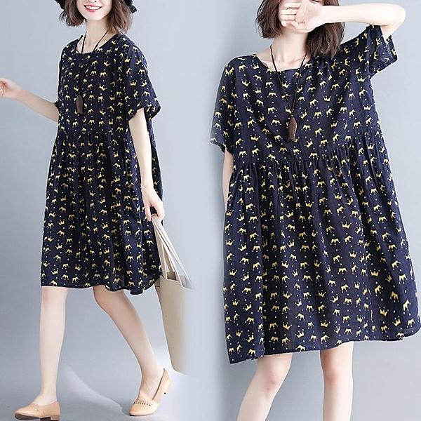大碼洋裝 胖mm洋裝洋氣胖妹妹適合胖人的裙子衣服顯瘦大碼女裝200斤夏天 檸檬衣舍