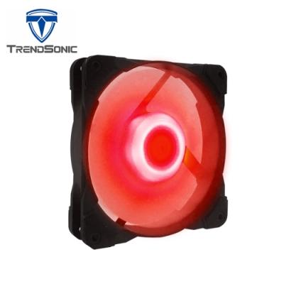 TrendSonic翰欣 12cm 軸心發光型防震風扇 ( 紅光 )
