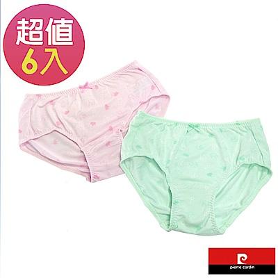 皮爾卡登 女兒童彈力皇冠印花三角褲-混色6件組(123001)