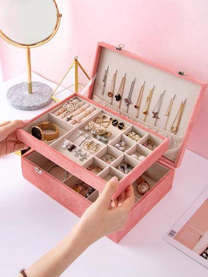 首飾收納盒大容量手首飾品收納盒簡約創意手表耳環架INS女家用收拾