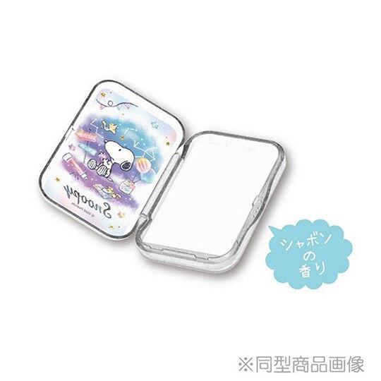 【領券折$30】小禮堂 史努比 日製 攜帶型盒裝紙肥皂 紙香皂 皂紙 (50入 紫 網球)
