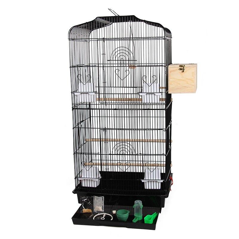 鳥籠 新大型八哥鷯哥玄風虎皮鸚鵡大號豪華別墅鐵藝繁殖箱『WL37132』