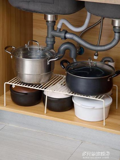 可伸縮廚房置物架調料架調味架鐵藝櫥柜下水槽收納架碗碟架瀝水架