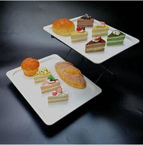 水果盤 不銹鋼水果盤歐式雙層三層點心架面包蛋糕托盤自助餐展示架西餐廳