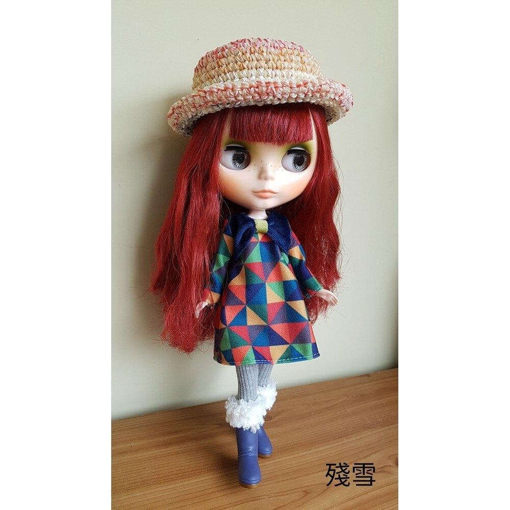 【花兒 x 手作】 Blythe 小布毛帽 造型帽
