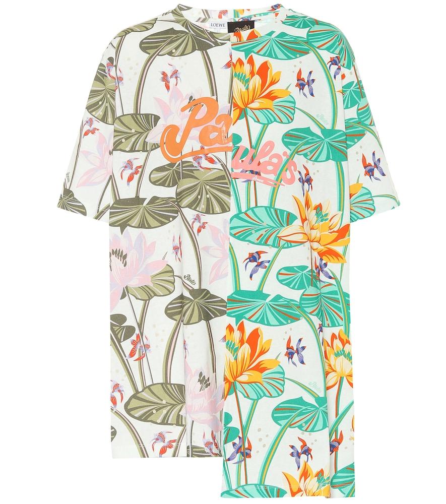 Paula's Ibiza oversized floral cotton T-shirt