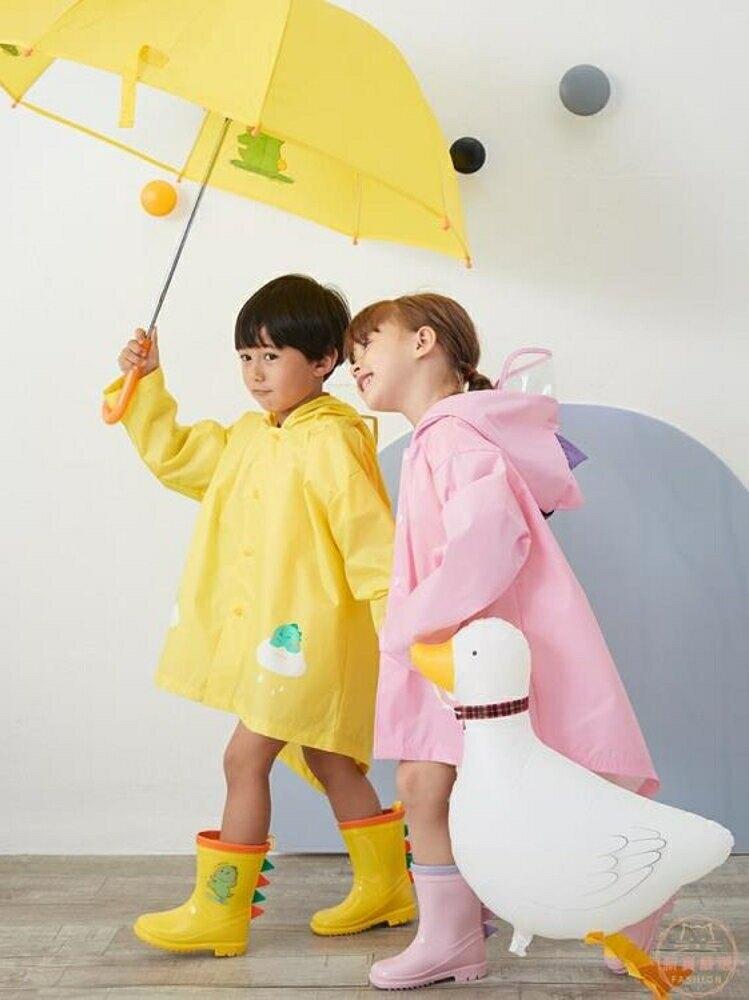 兒童雨衣 男童恐龍小學生幼兒園外套長款防水暴雨寶寶斗篷女童雨披【全館82折】