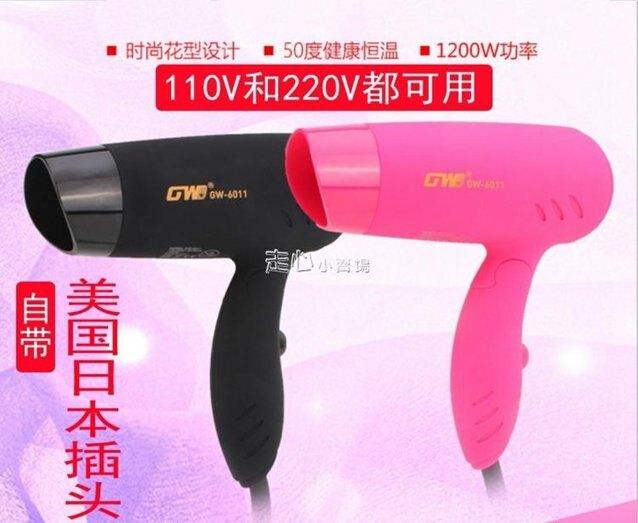 110V220伏雙電壓旅行電吹風機可折疊風筒  伊芙莎 秋冬新品特惠
