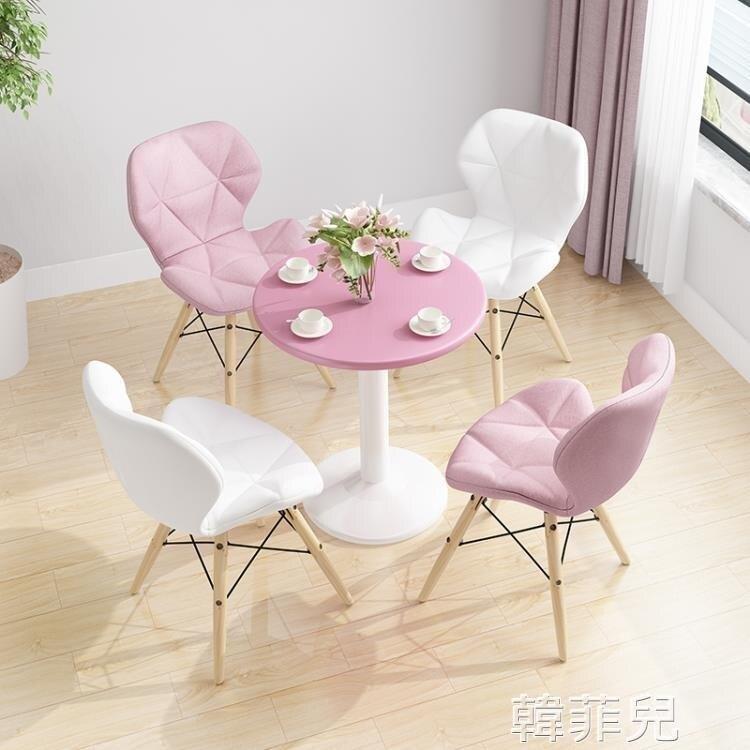 洽談桌 休閒方桌子家用接待餐桌椅洽談桌 小圓桌椅子組合售樓處
