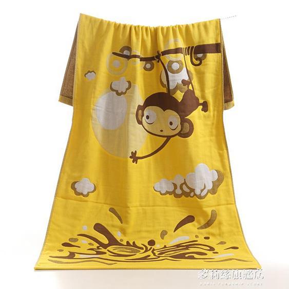 沙灘巾三層紗布浴巾純棉成人柔軟兒童游泳女沙灘大速干情侶超強吸水卡通