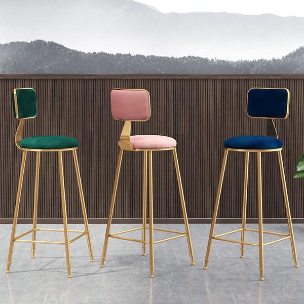 北歐輕奢ins吧椅吧臺椅簡約時尚酒吧椅吧凳靠背高腳凳網紅吧臺凳