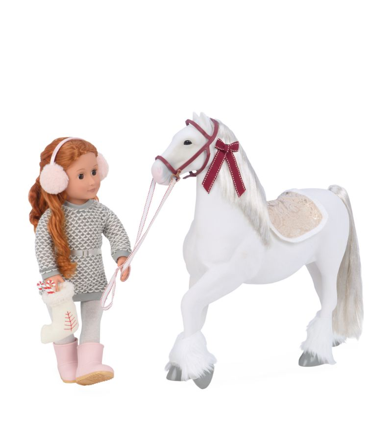 Our Generation Clydesdale Holiday Horse Toy