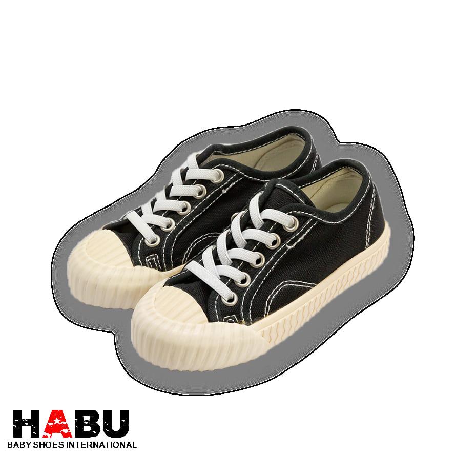 HABU哈布童鞋 黑色經典餅乾鞋(親子成人款)KK56W-BK