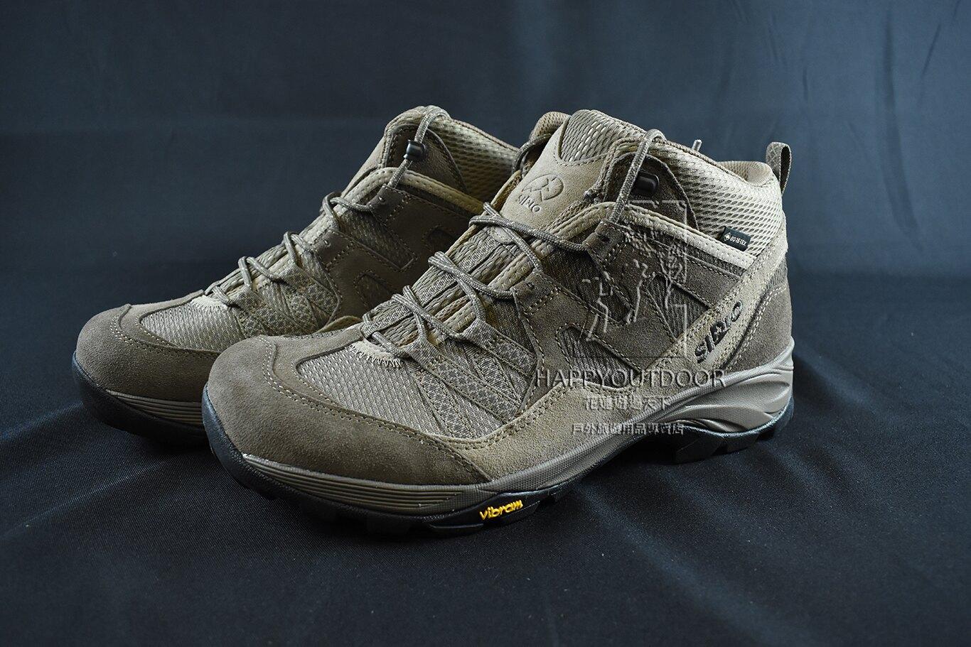 SIRIO PF156BE Gore-Tex 防水中筒登山鞋 休閒鞋 健行鞋  男款 棕色 PF156-2 BE SS214\t【Happy Outdoor 花蓮遊遍天下】