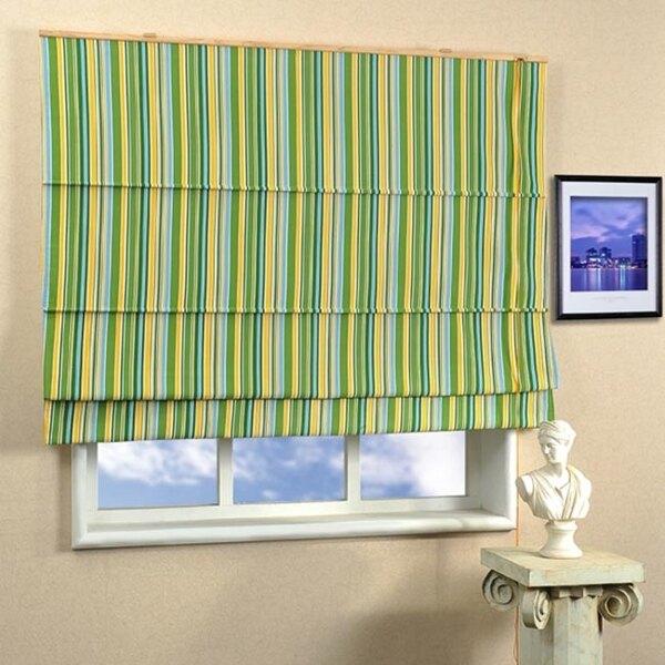 彩條風羅馬簾(寬90x高165cm    簡約風格  色彩明亮 具有隔熱與遮蔽效果 按裝                     簡易