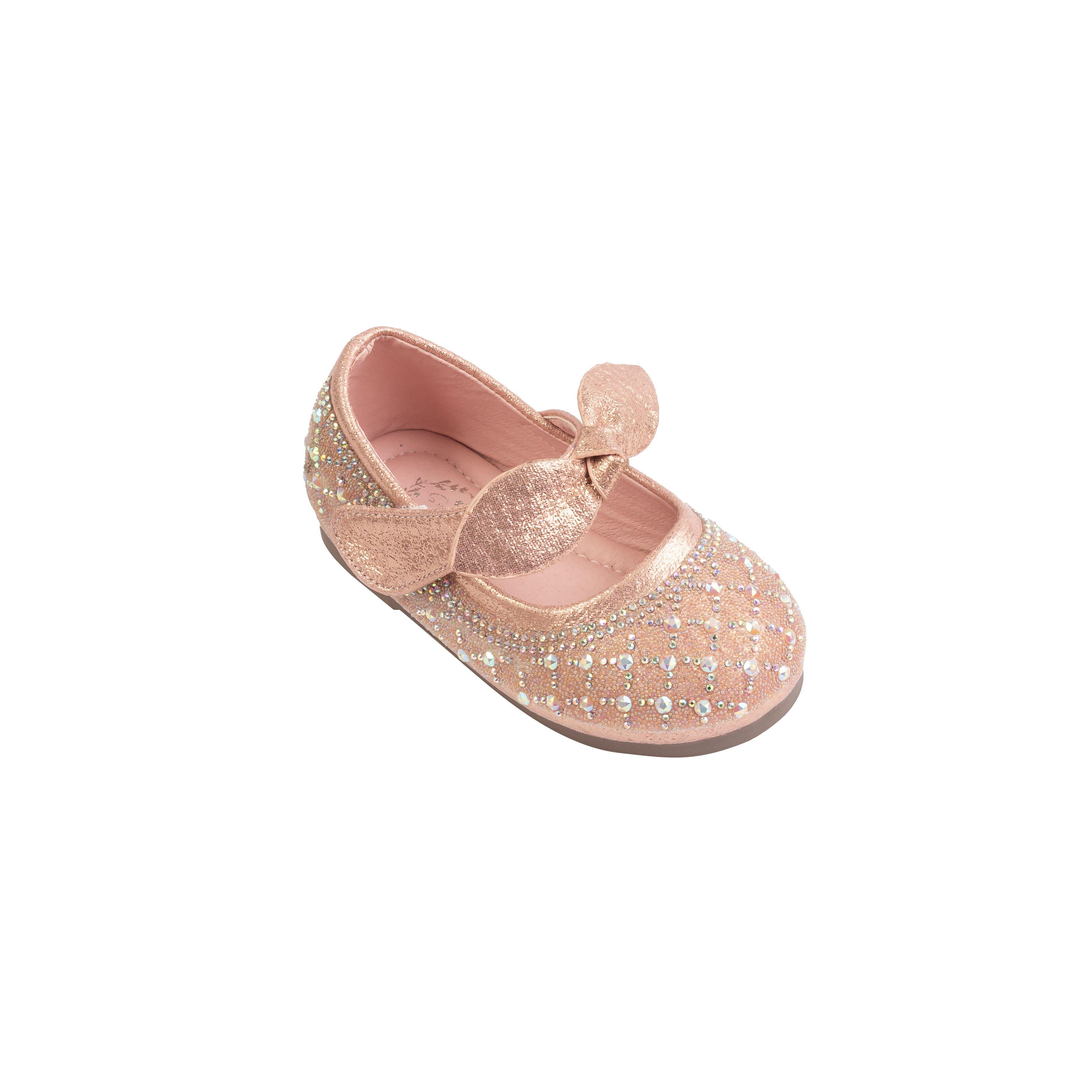 HABU哈布童鞋 粉色芭蕾鑲鑽娃娃鞋MM73-PI