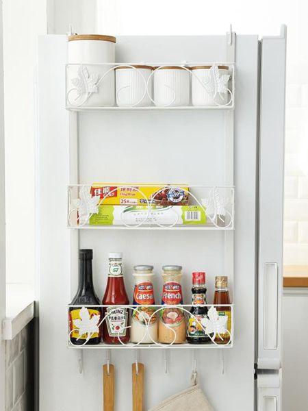 側壁置物架 鐵藝冰箱掛架側壁掛側面架廚房用品置物收納掛鉤架冰箱側邊調味架