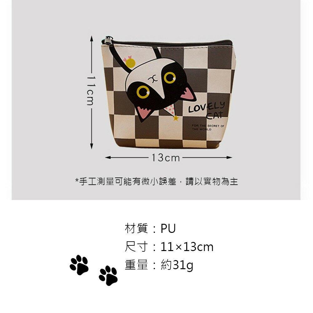 新款錢包 韓版可愛萌動物小錢包 卡通貓咪pu迷你零錢包