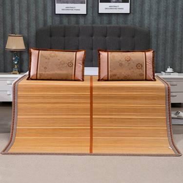 涼席1.8m床冰絲雙面折疊1.2米1.35米宿舍單人0.9m草席子1.5米YXS
