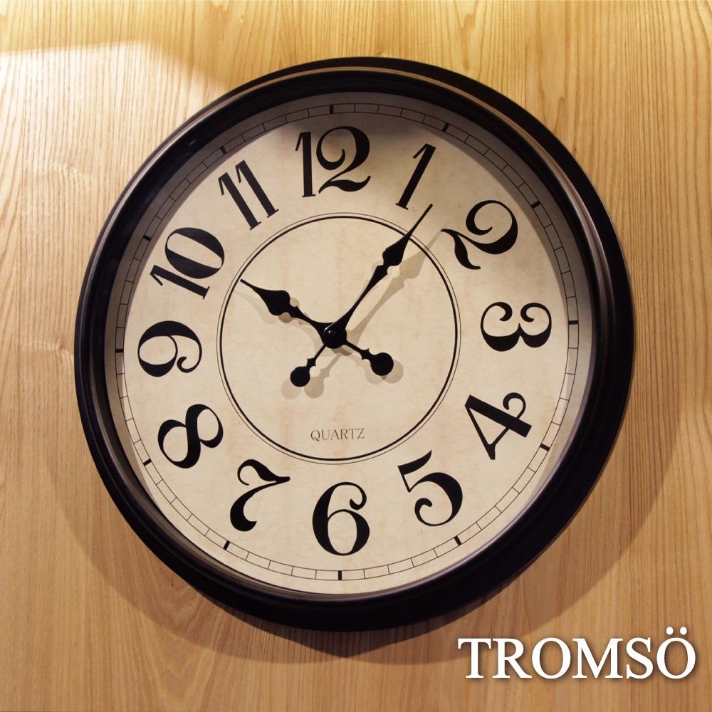TROMSO 法式香榭 時尚大數字黑白時鐘
