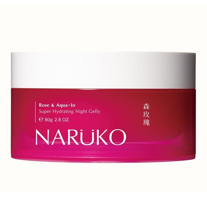 NARUKO森玫瑰超水感保濕晚安凍膜80 公克