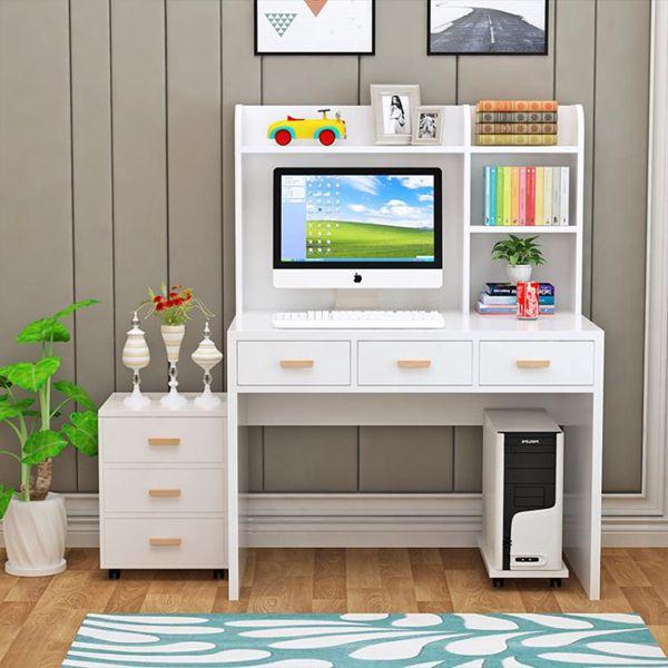 電腦書桌簡約臺式電腦桌家用經濟型辦公桌書桌書架組合兒童創意學習桌