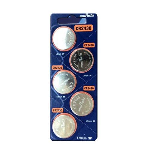 MuRata 村田CR 車用鈕扣電池 5入 / 卡 CR2430