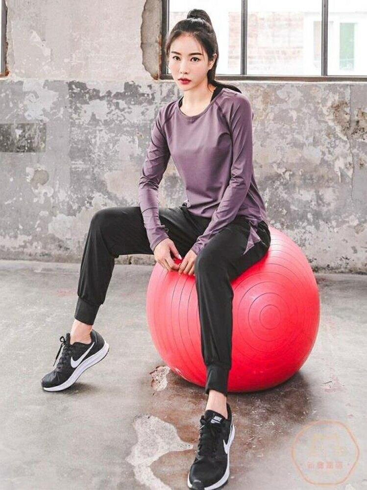 瑜伽服 休閒運動瑜伽服套裝女健身房跑步健身服大碼速干寬鬆顯瘦彈力透氣【全館82折】
