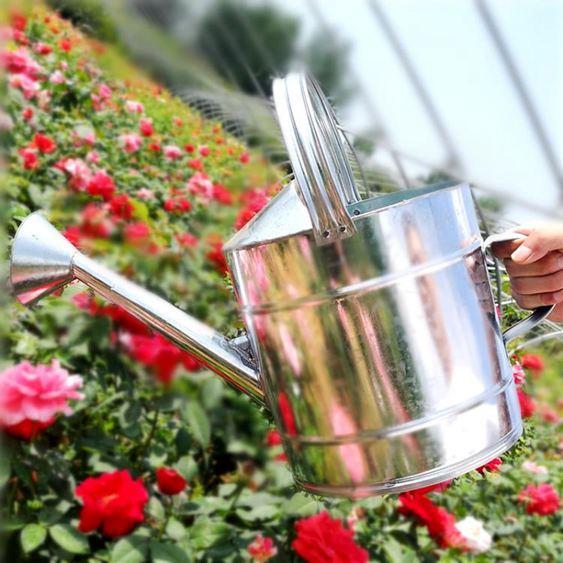 沭淋灑水壺不銹鐵皮家用澆菜澆花水壺淋花噴壺澆水壺大容量灑水桶