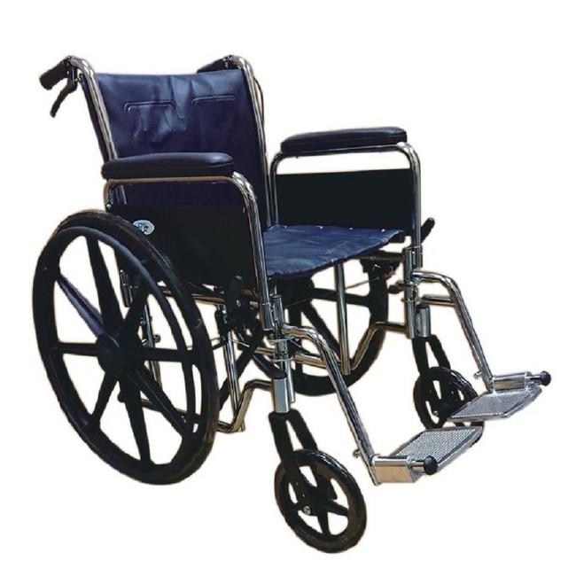 【海夫健康生活館】FZK 鐵製 電鍍 拆手 拆腳 輪椅(FZK-130)