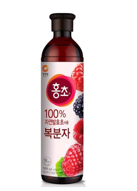 韓國 清淨園 大象 覆盆子紅醋 紅醋 900ML