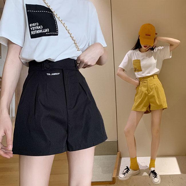 FOFU-套裝小香風簡約短袖T恤+A字顯瘦短褲套裝【08G-M1466】