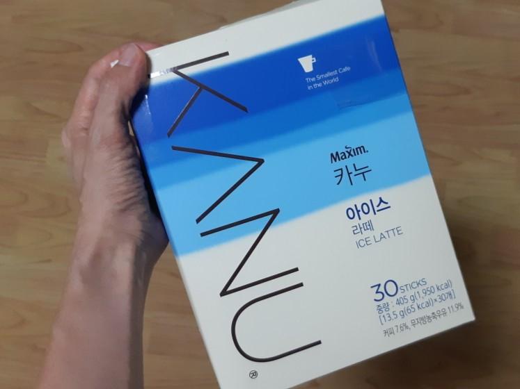 韓國 Mini KANU 咖啡 冰拿鐵咖啡 咖啡 拿鐵 30入 405G 2021.10.27