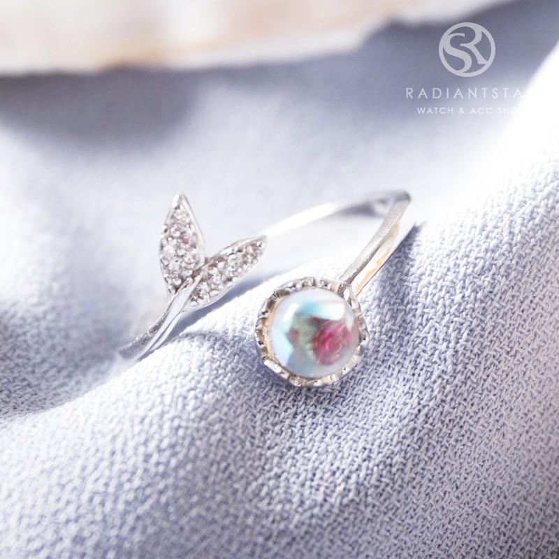 人魚之心人魚尾巴點鑽可調式925純銀戒指【SL617】璀璨之星