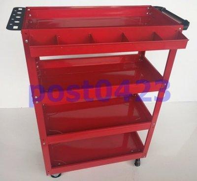 【瑪太】J424四層工具車+掛板+大零件盒 四層好收納空件好利用 帶輪輕便汽修零件車