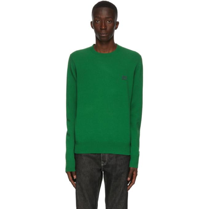 Acne Studios 绿色羊毛圆领毛衣