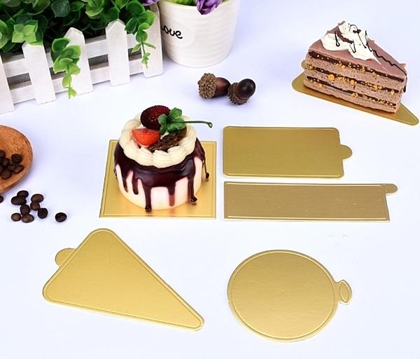 10入 小金卡食品級蛋糕墊 小蛋糕金色底托 慕斯蛋糕托 蛋糕墊 糕點紙墊 蛋糕金色硬紙托【C110】